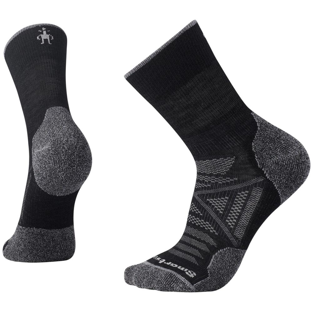 SMARTWOOL Men's PhD Outdoor Light Mid Crew Socks - BLACK 001