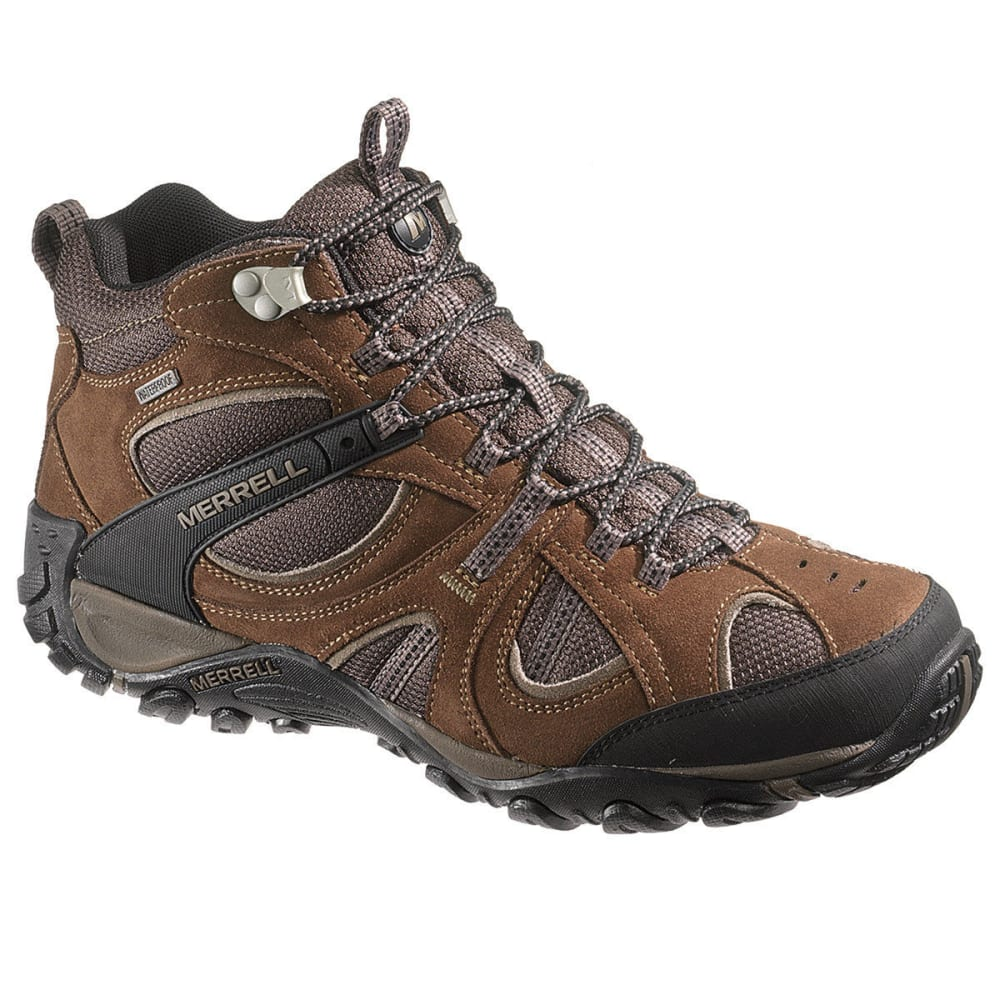 MERRELL Men's Yokota Trail Mid Waterproof Hiking Boots - DARK EARTH/BOULDER
