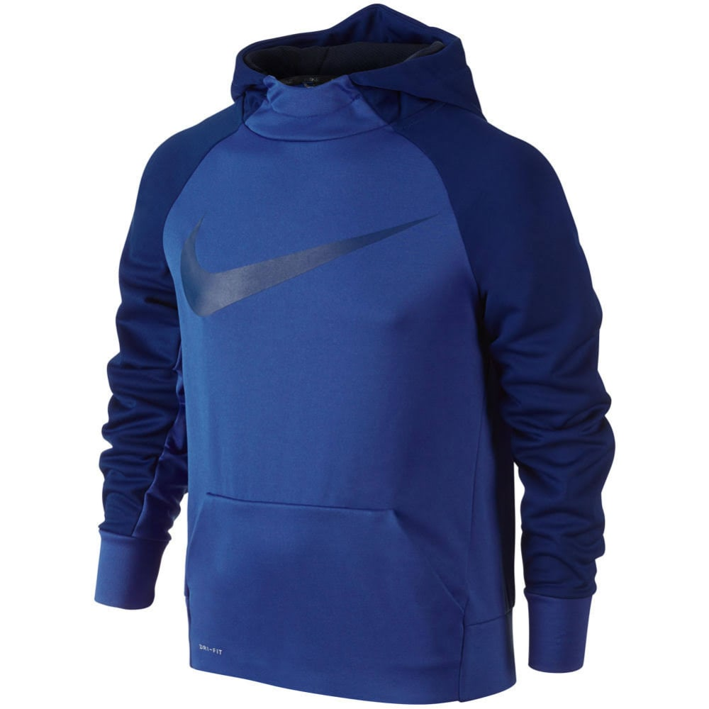NIKE Big Boys' Therma Training Pullover Hoodie - ROYAL BLUE-480