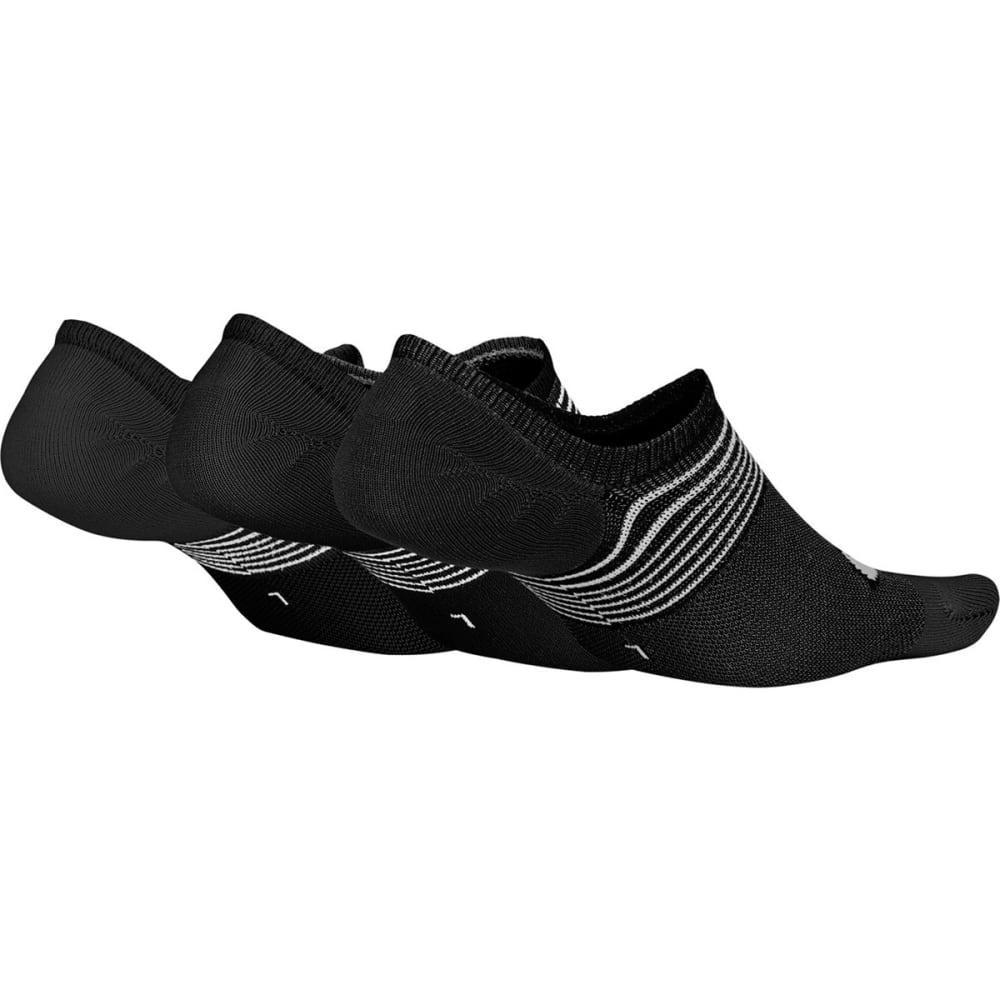 NIKE Women's Lightweight Footie Training Socks, 3-Pack - BLACK 010