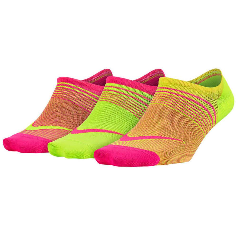 NIKE Women's Lightweight Footie Training Socks, 3-Pack - MULTI PINK 903