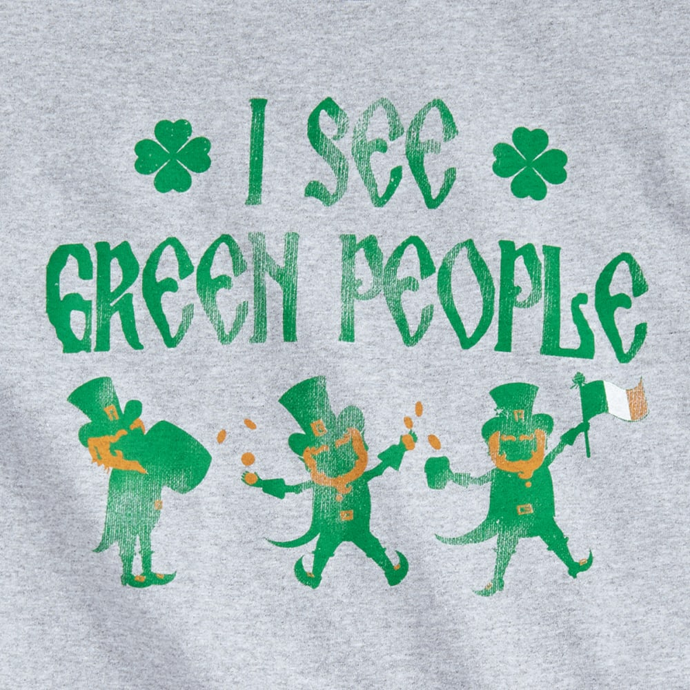 ST. PADDY'S DAY Guys' I See Green People Screen Tee - GREEN