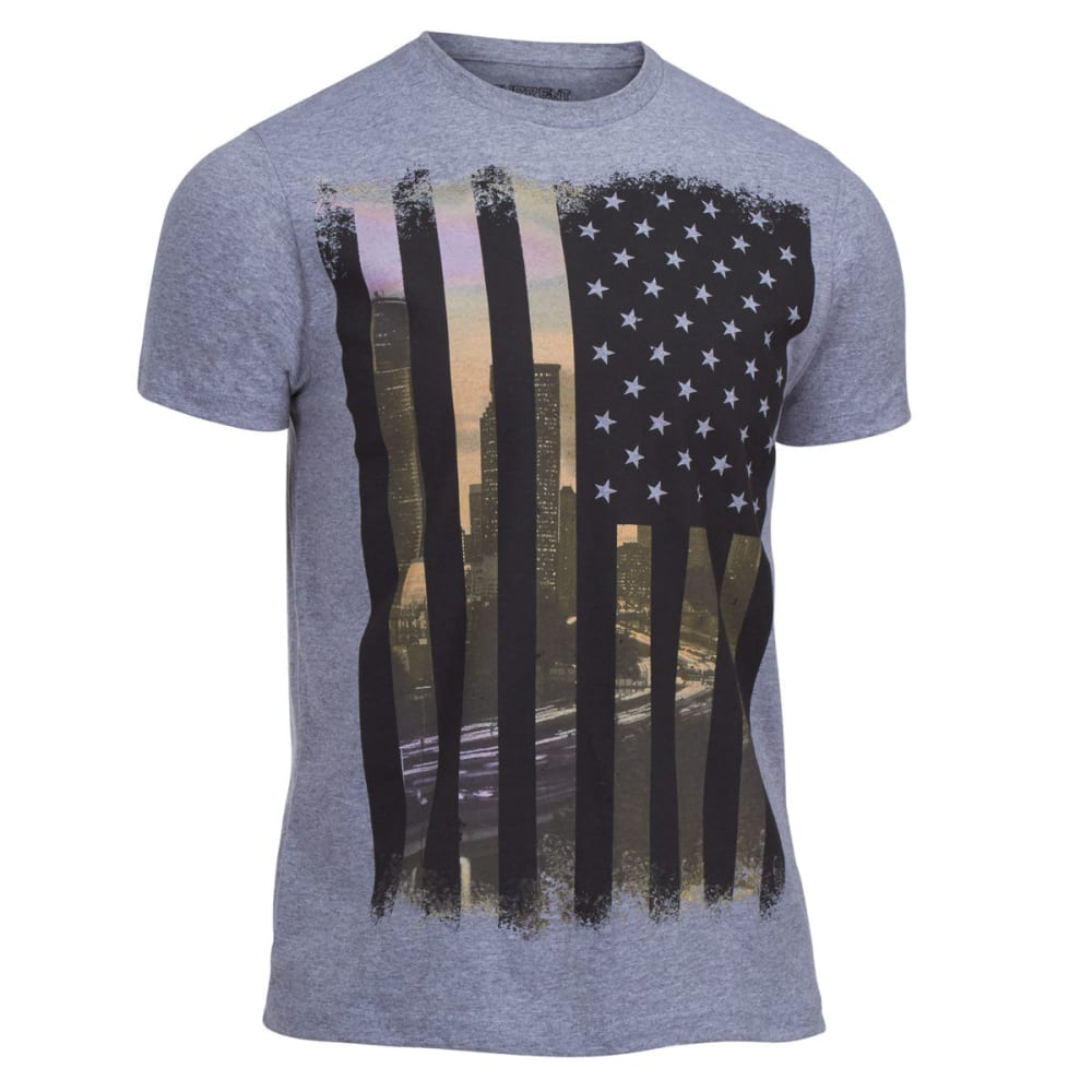 OCEAN CURRENT Guys' Sunset Flag Tee - HEATHER GREY
