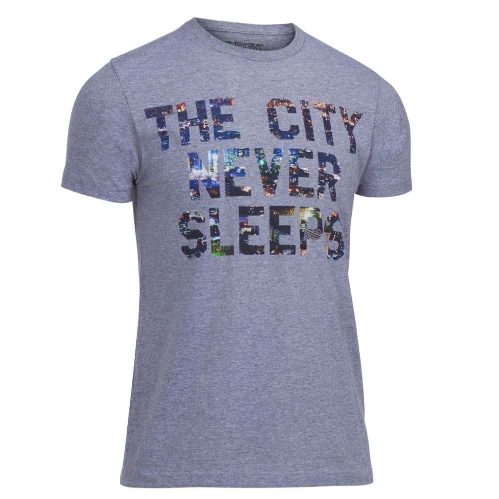 OCEAN CURRENT Guys' City Never Sleeps Tee - HEATHER GREY