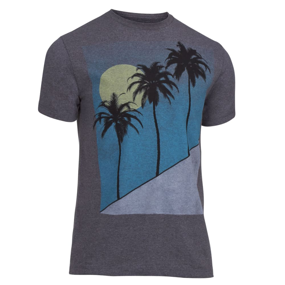 OCEAN CURRENT Guys' Under the Palms Tee - ARTIC GREY