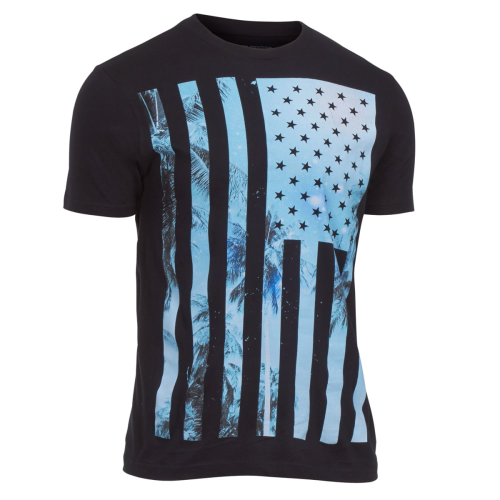 OCEAN CURRENT Guys' Stripe Island Tee - BLACK