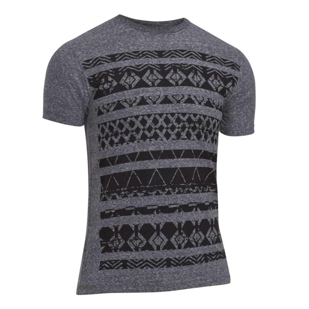 OCEAN CURRENT Guys' Sun Spot Aztec Tee - BLACK SNOW