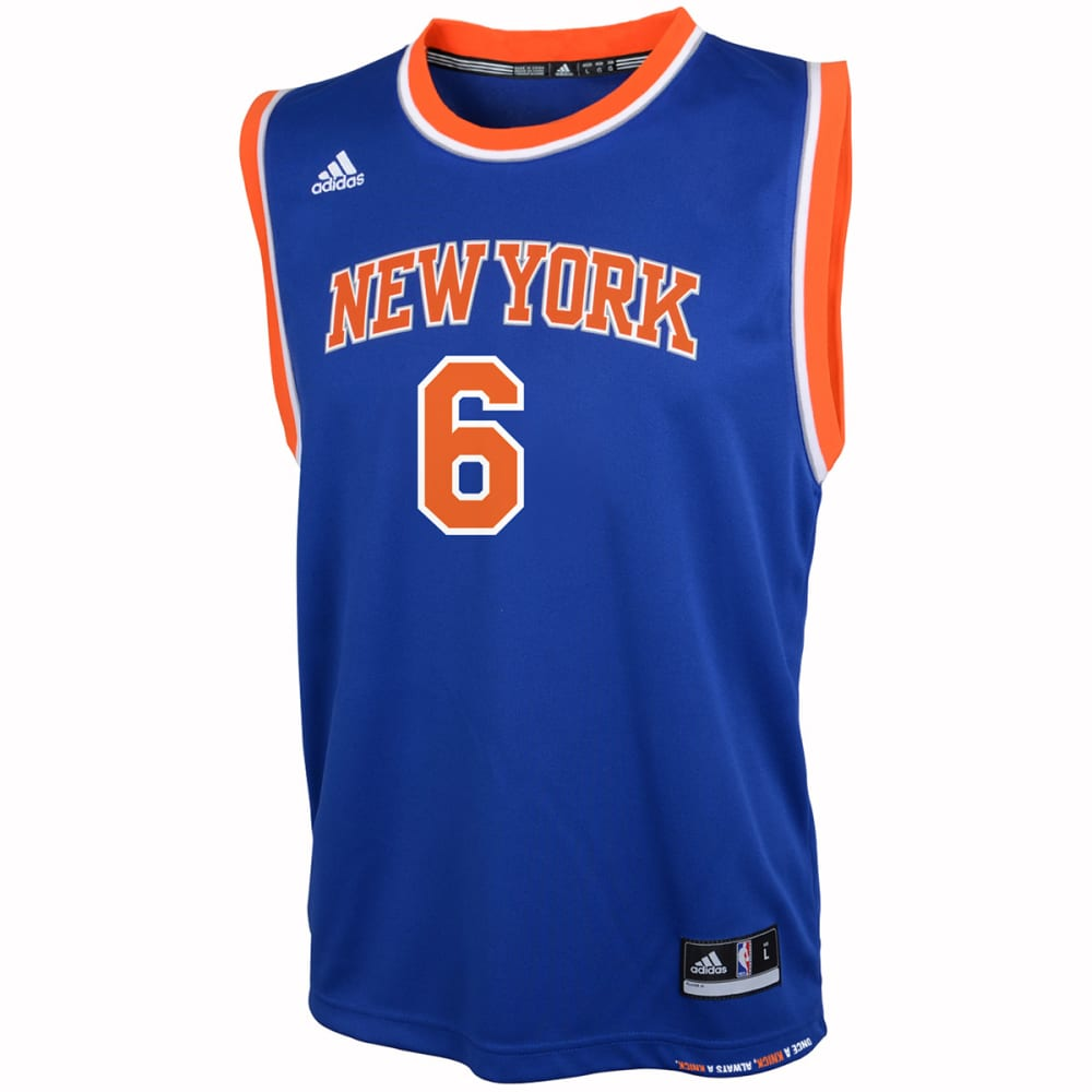 NEW YORK KNICKS Boys' Kristaps Porzingis #6 Replica Jersey - ROYAL BLUE