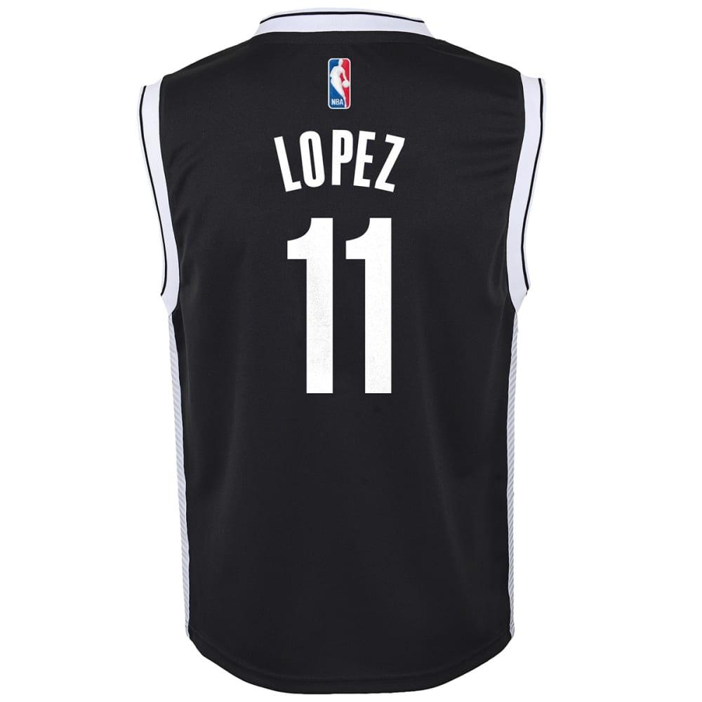 ADIDAS Boys' Brooklyn Nets Lopez #11 Replica Jersey - WHITE