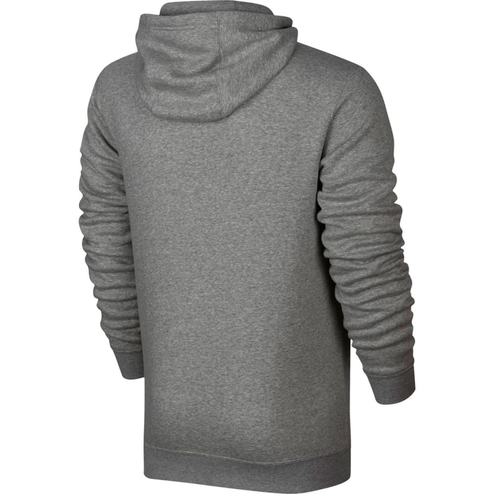 NIKE Men's Fleece Club Full Zip Hoodie - DARK GREY-063
