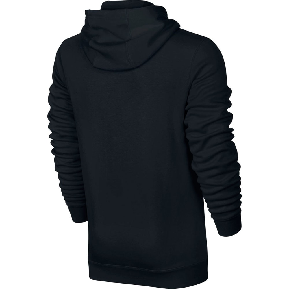 NIKE Men's NSW Club Fleece Half Zip Pullover Hoodie - BLACK/WHITE-010