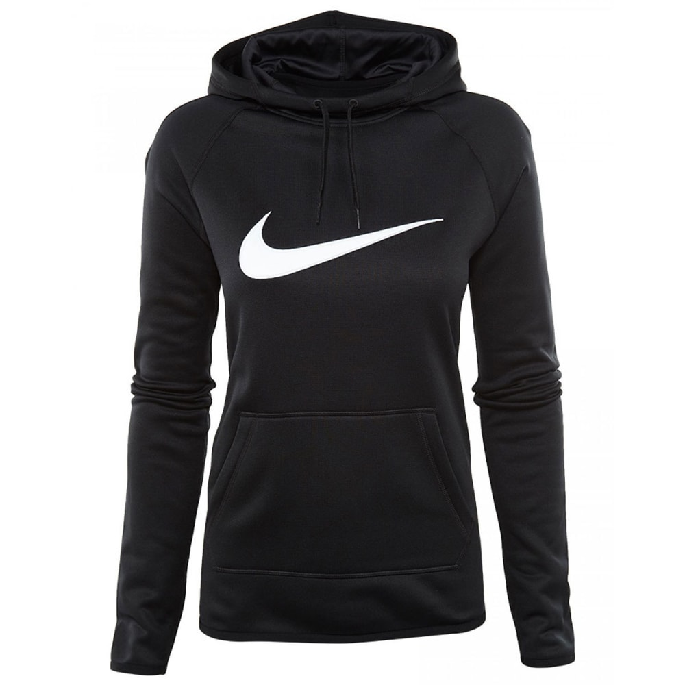 NIKE Women's Therma All Time Swoosh Pullover Hoodie - BLACK 010