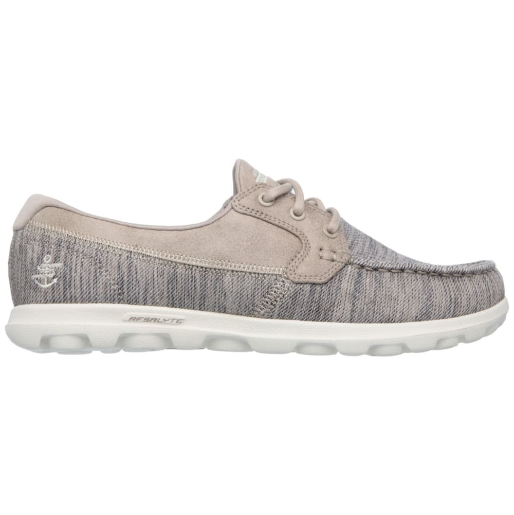 SKECHERS Women's On The Go - Dock Lines Boat Shoes - TAUPE