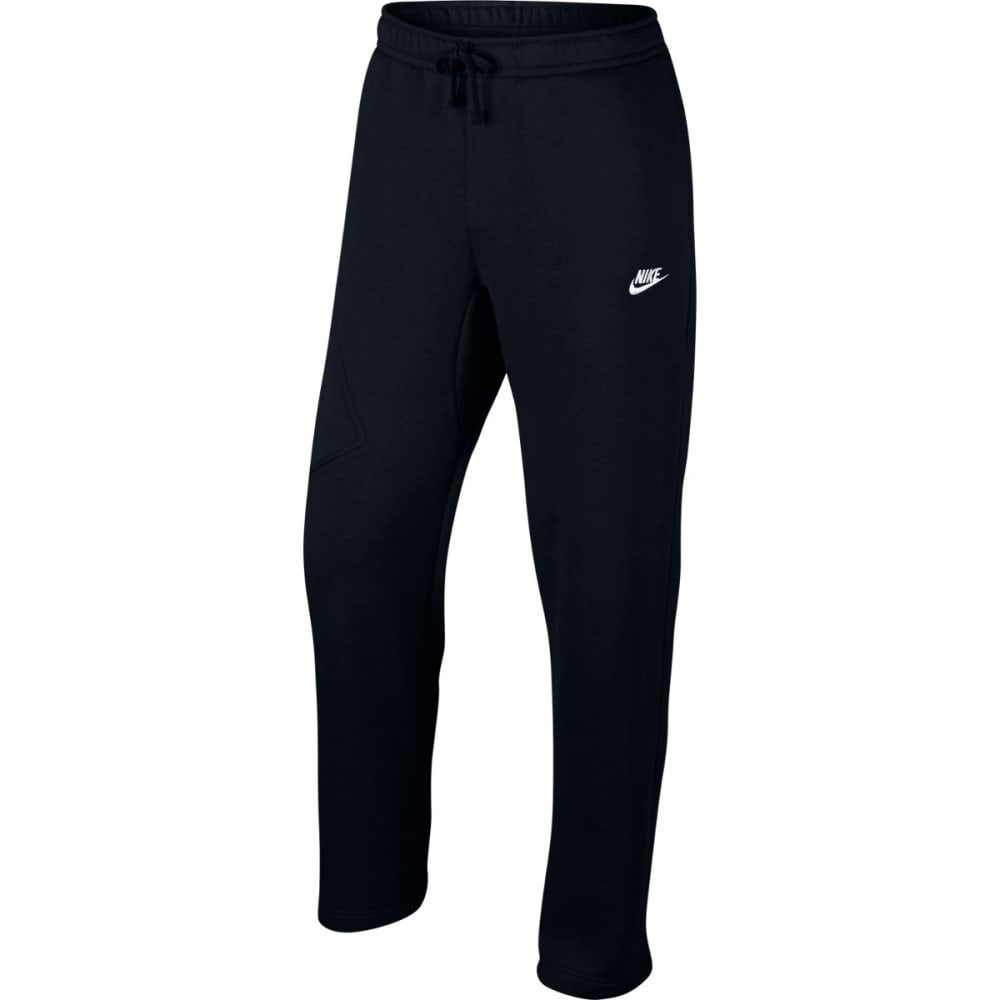 NIKE Men's Fleece Cargo Club Sweatpants - BLACK/WHITE-010