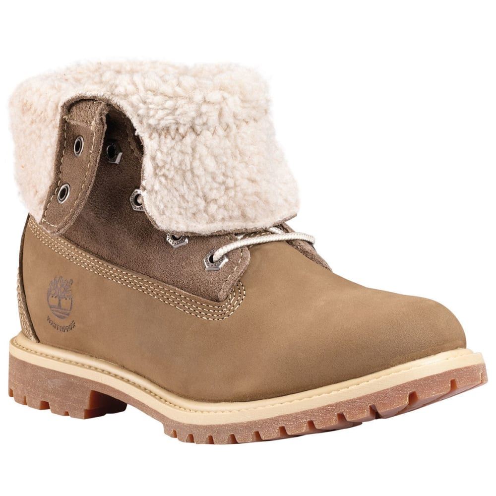 TIMBERLAND Women's Teddy Fleece Roll-Down Shearling Boots - TAUPE NUBUCK