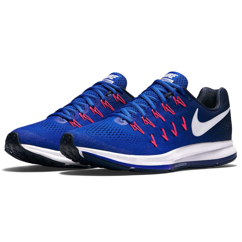 NIKE Men's Air Zoom Pegasus 33 Running Shoes - RACER BLUE - 401