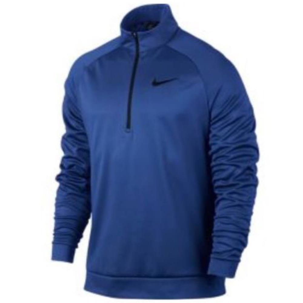 NIKE Men's Therma Essential ¼-Zip Pullover - OBSIDIAN/BLACK-451