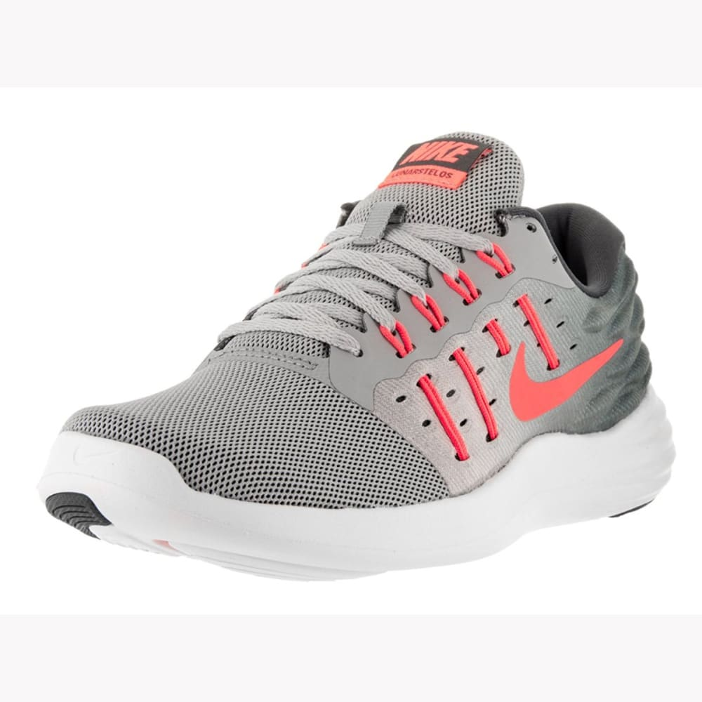 NIKE Women's LunarStelos Running Shoes - WOLF GREY/MANGO