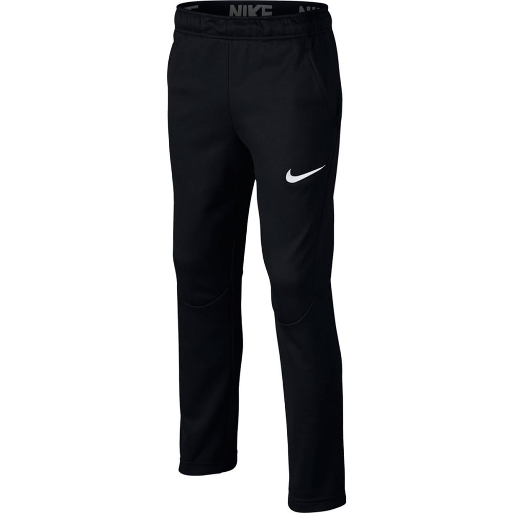 NIKE Big Boys' Therma Open Hem Pants - BLACK/WHITE-011