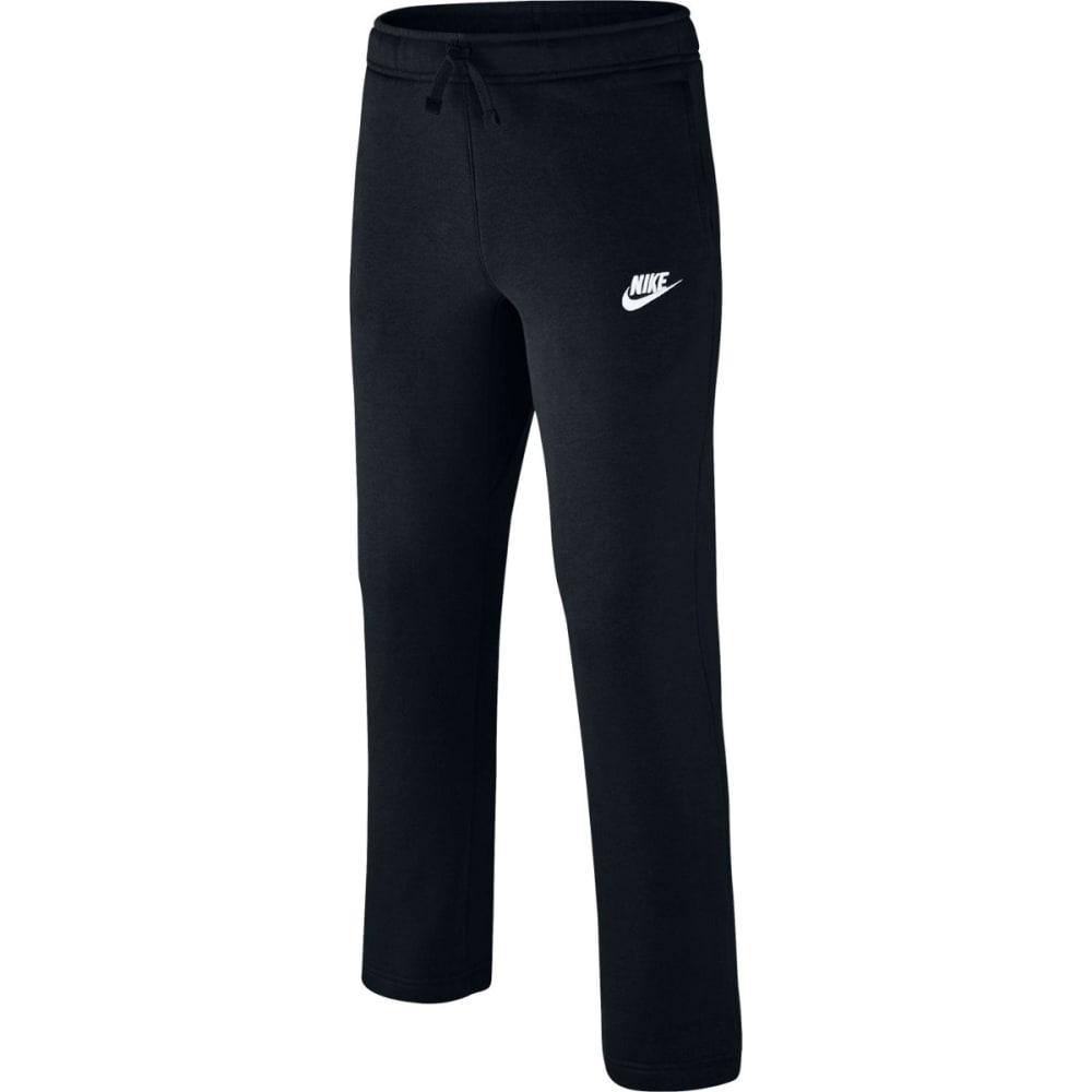 NIKE Big Boys' Sportswear Open-Hem Fleece Pants - BLACK/WHT-011