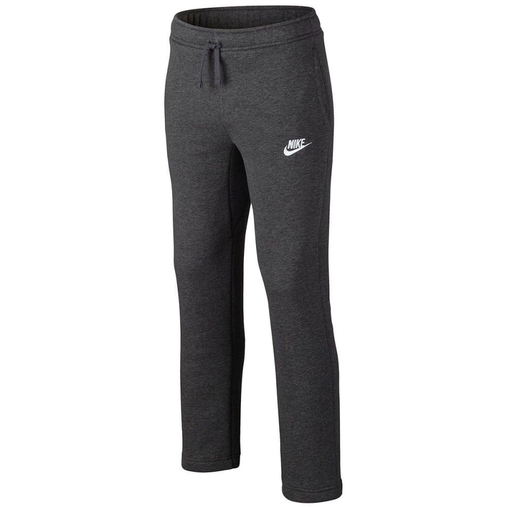 NIKE Big Boys' Sportswear Open-Hem Fleece Pants - CHAR HTHR/DR GRY-071