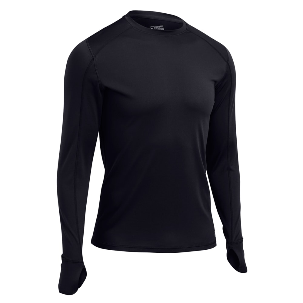 EMS Men's Techwick Lightweight Long-Sleeve Crew Baselayer - BLACK