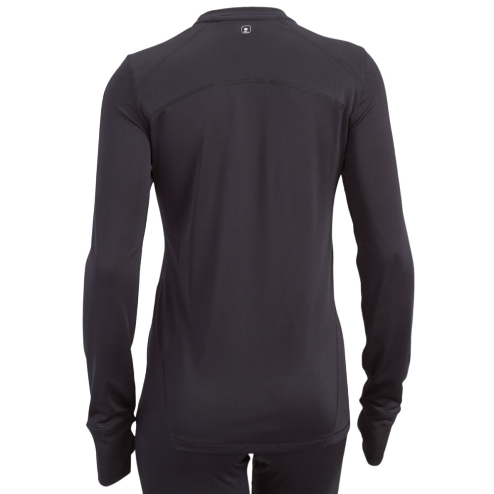 EMS Women's Techwick Solid Lightweight Long-Sleeve Crew Baselayer - BLACK