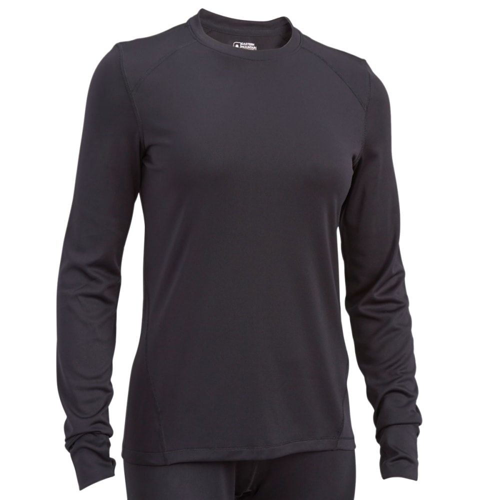 Ems(R) Women's Techwick(R) Solid Lightweight Long-Sleeve Crew Baselayer - Black, M