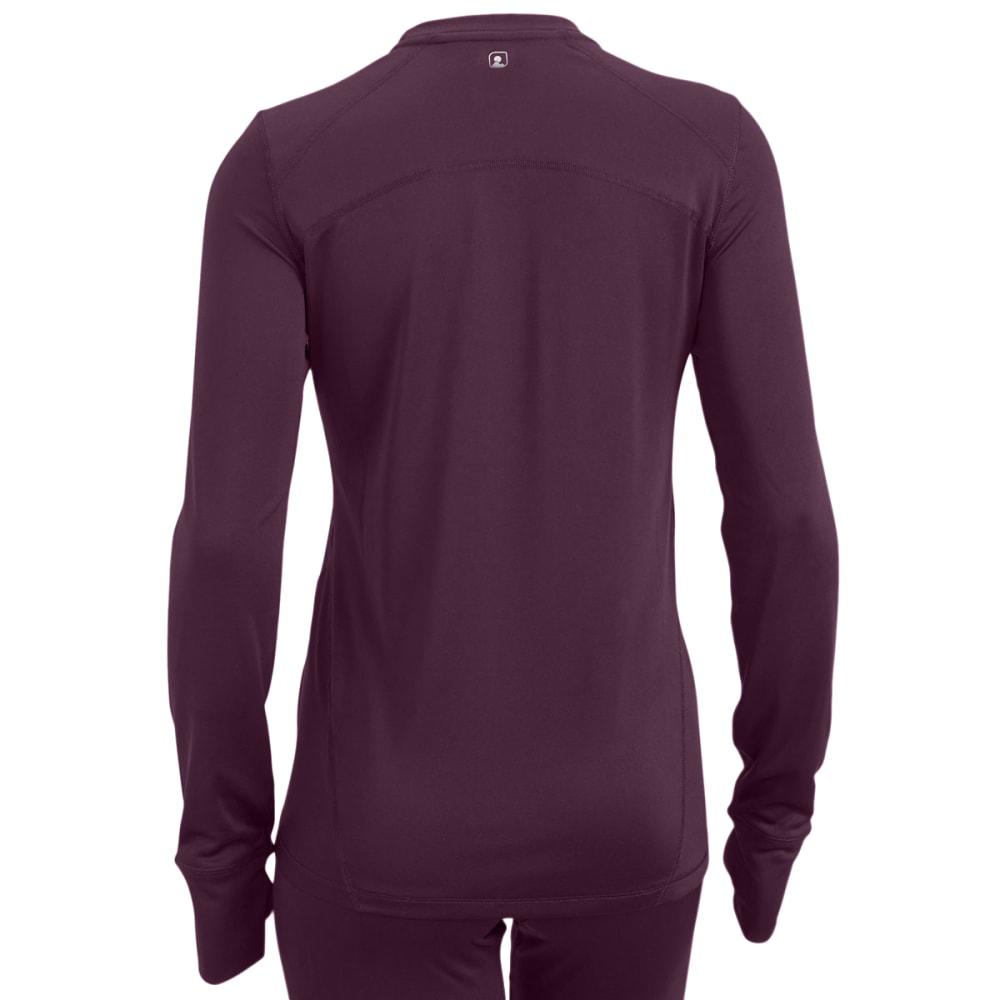 EMS Women's Techwick Solid Lightweight Long-Sleeve Crew Baselayer - PLUM PERFECT