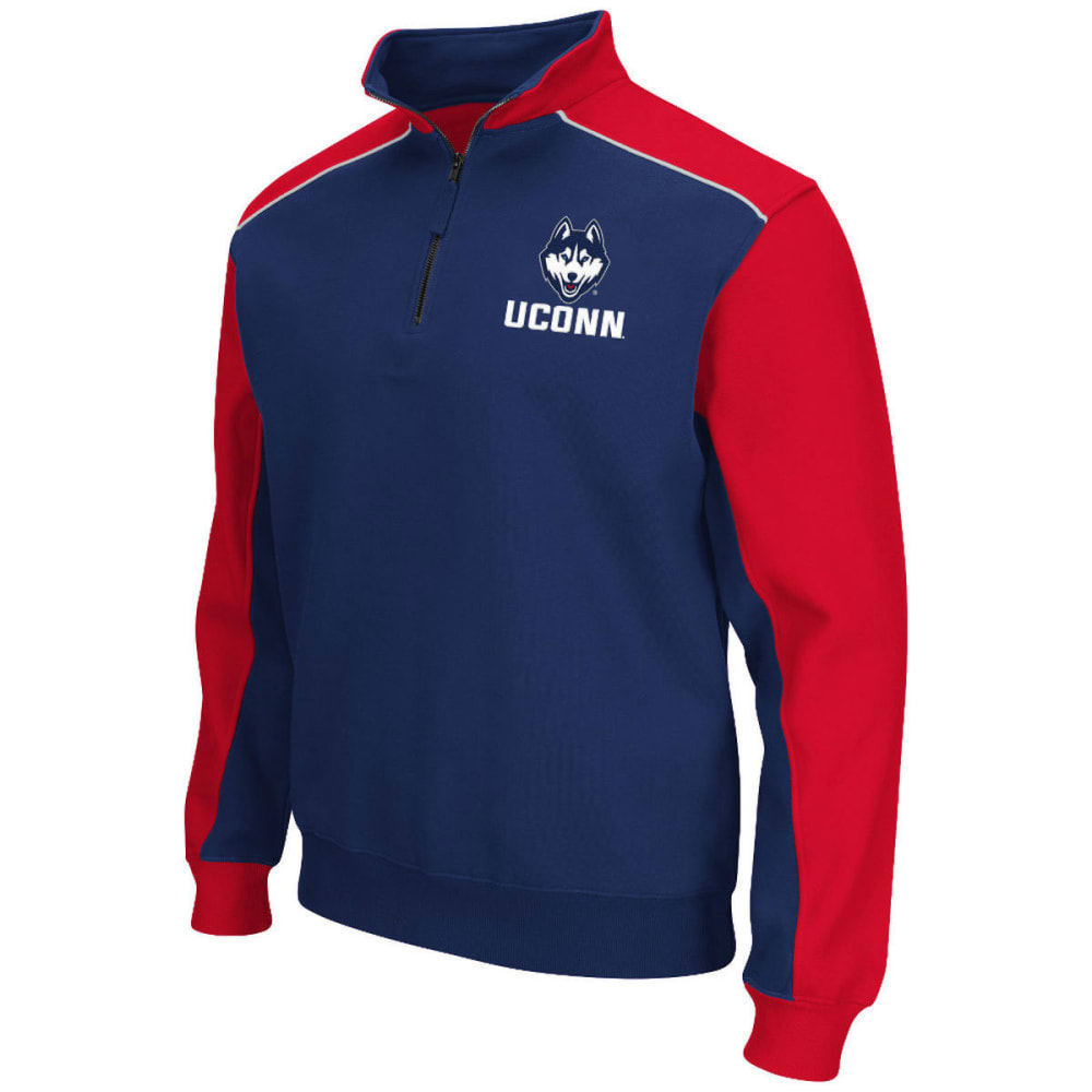 Uconn Men's Thriller Ii  1/4 Zip Fleece - Blue, L