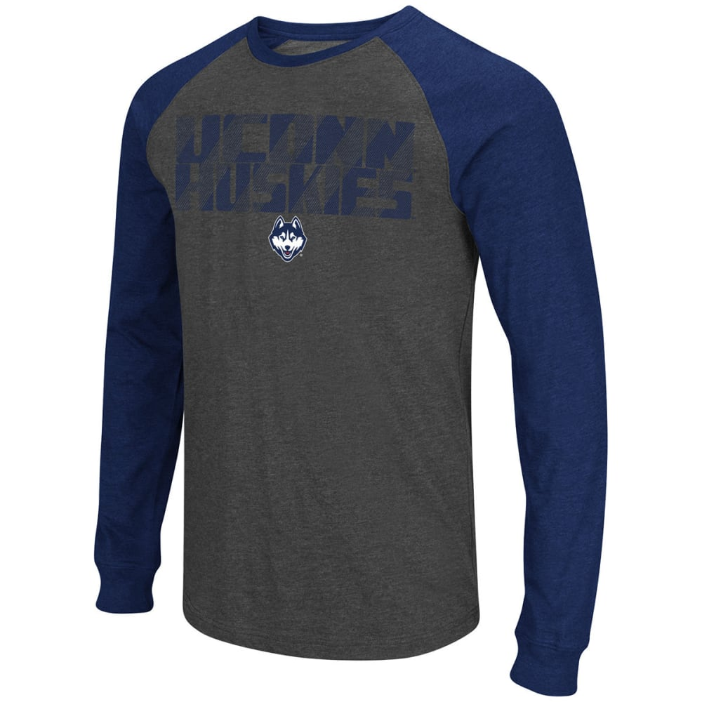 UCONN Men's Olympus Tee - CHARCOAL/NAVY