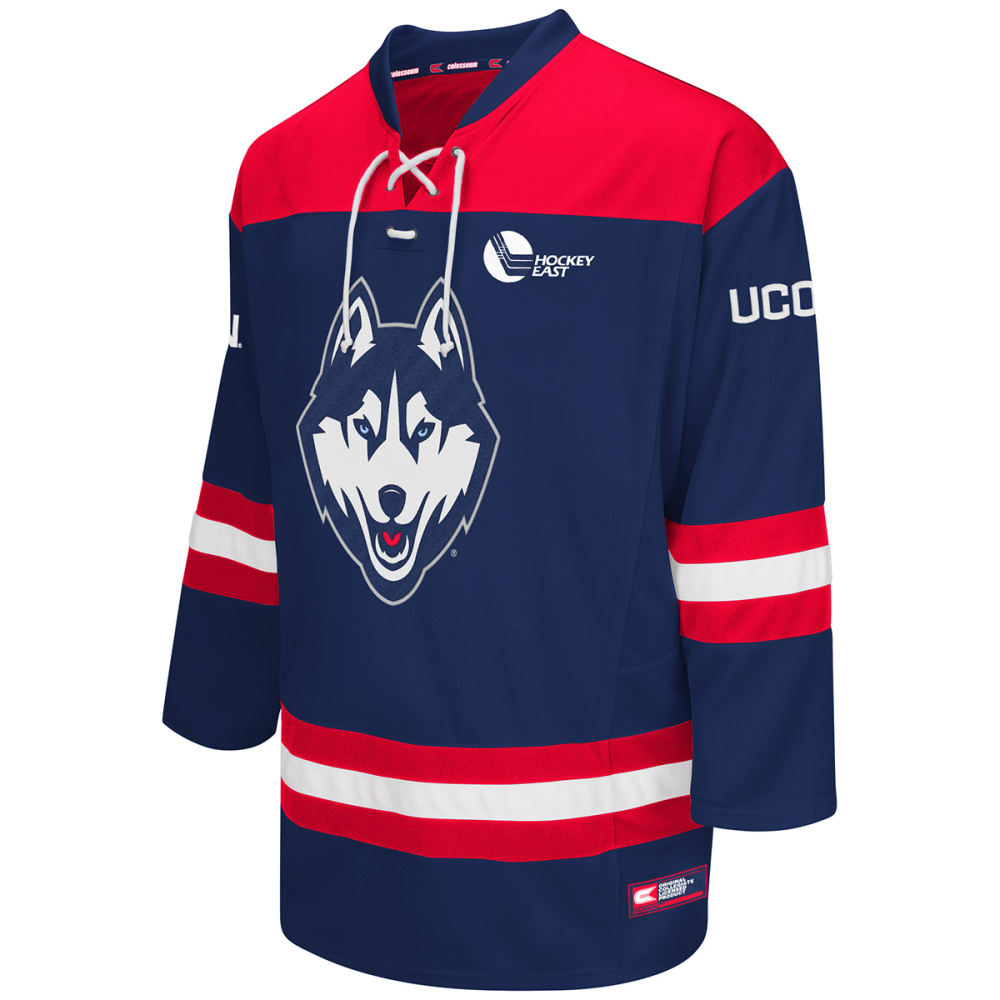 UCONN Men's Open Net Hockey Jersey - HEATHER NAVY