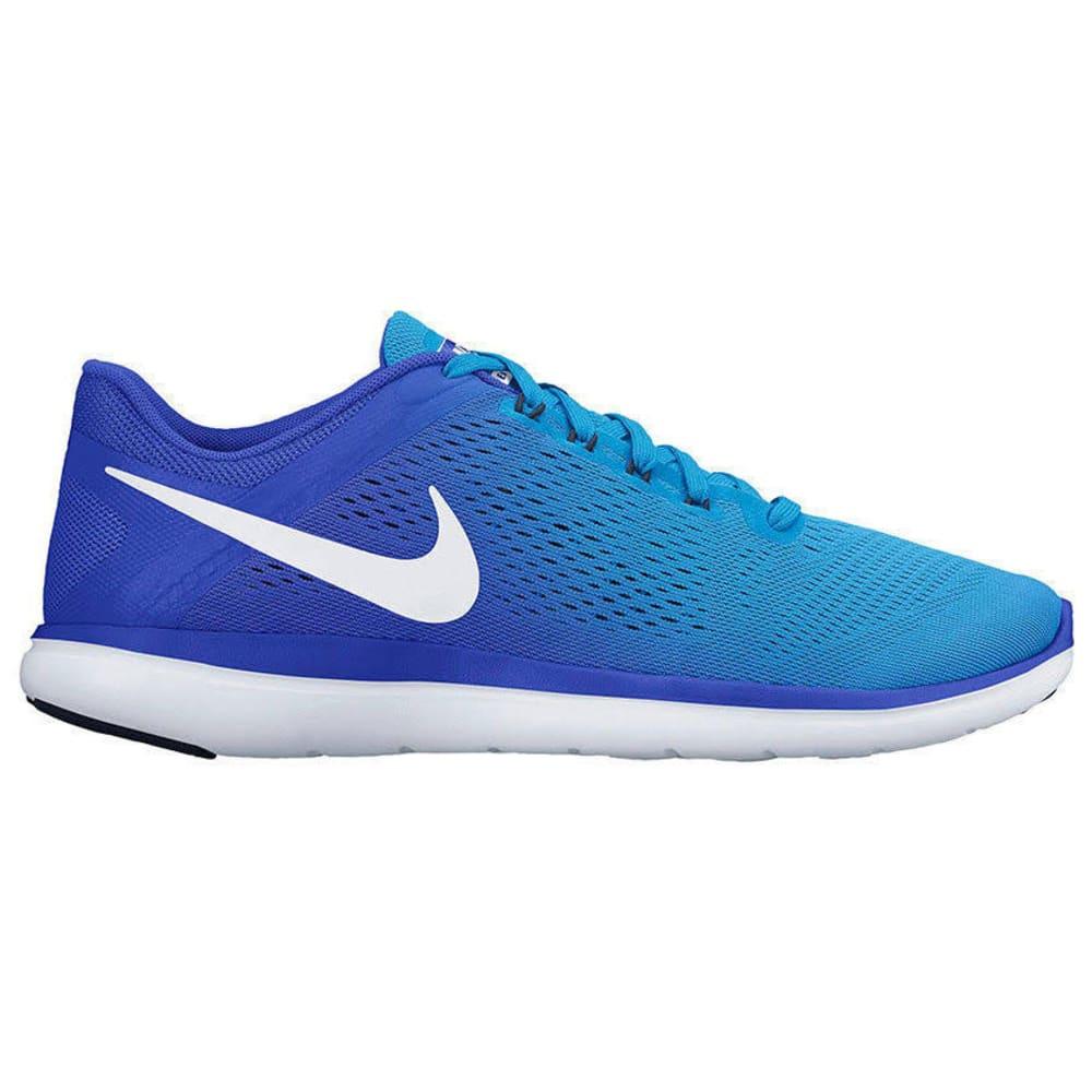 NIKE Women's Flex 2016 RN Running Shoes - BLUE GLOW/RACER BLUE