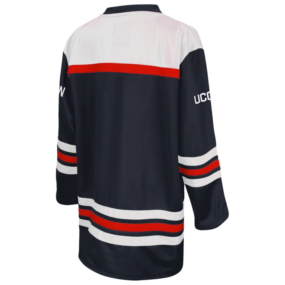 UCONN Boys' Open Net Hockey Sweater - NAVY/RED