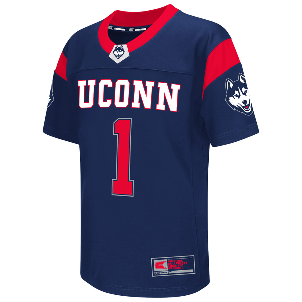UCONN HUSKIES Kids' Hail Mary Football Jersey - NAVY
