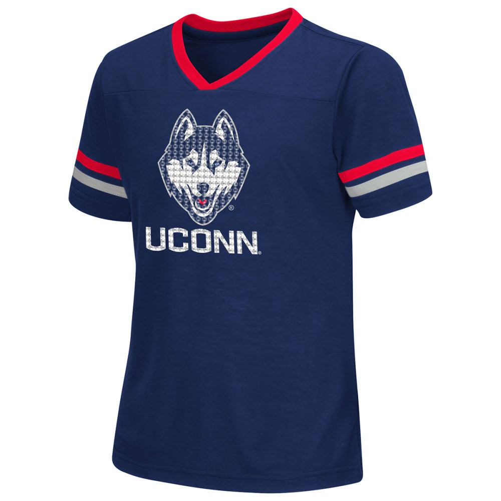 UCONN HUSKIES Girls' Titanium Short-Sleeve Tee - NAVY