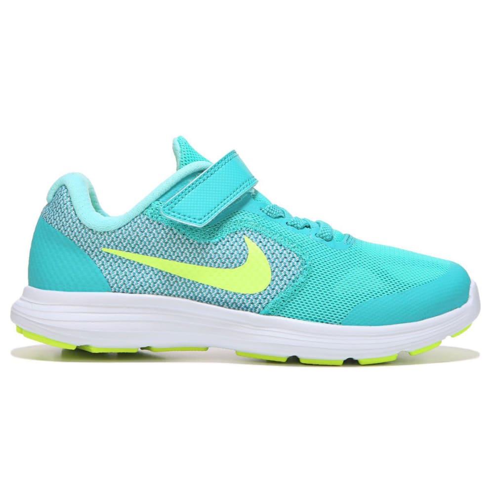 NIKE Little Girls' Revolution 3 Running Shoes - JADE