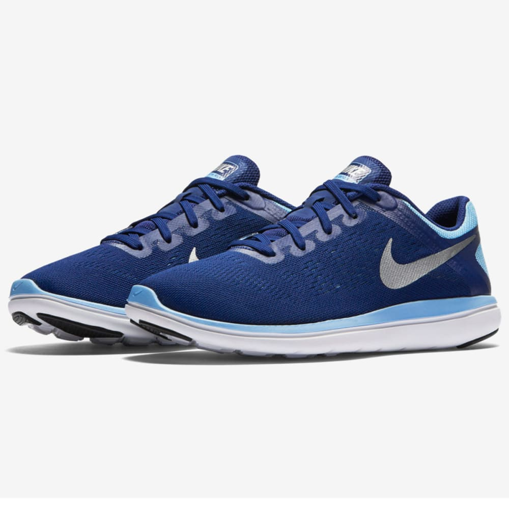 NIKE Big Girls' Flex 2016 RN Running Shoes - ROYAL BLUE
