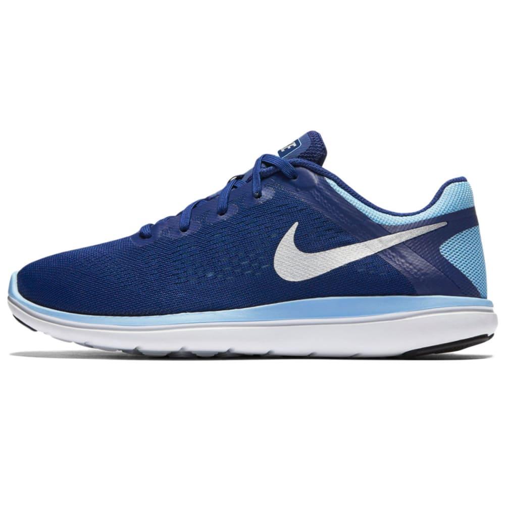 NIKE Big Girls' Flex 2016 RN Running Shoes - ROYAL BLUE