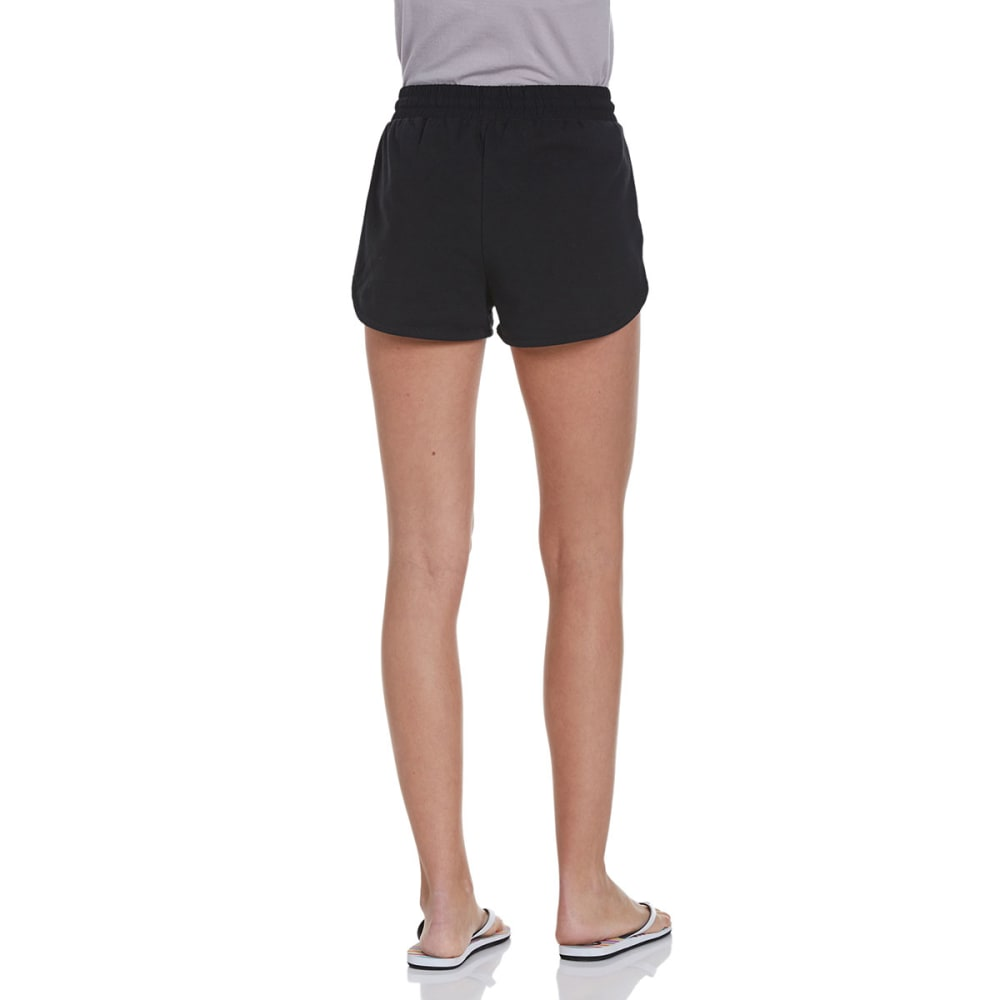 AMBIANCE APPAREL Juniors' High Waisted Knit Shorts - BLACK