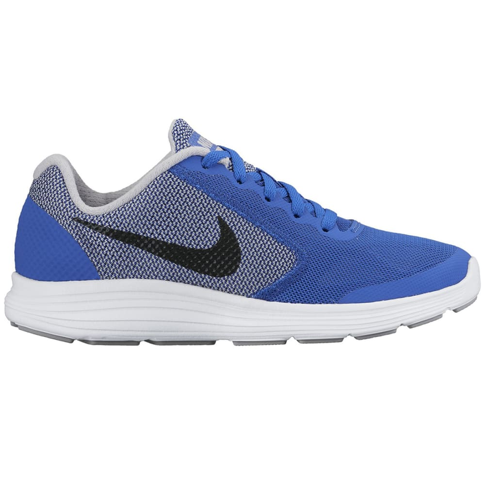 NIKE Big Boys' Revolution 3 Running Shoes - ROYAL BLUE