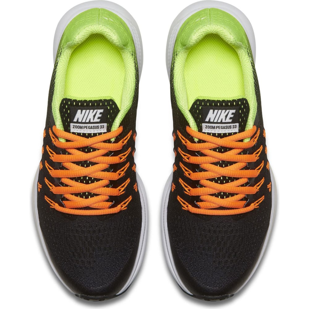 NIKE Big Boys' Grade School Air Zoom Pegasus 33 Running Shoes - BLACK