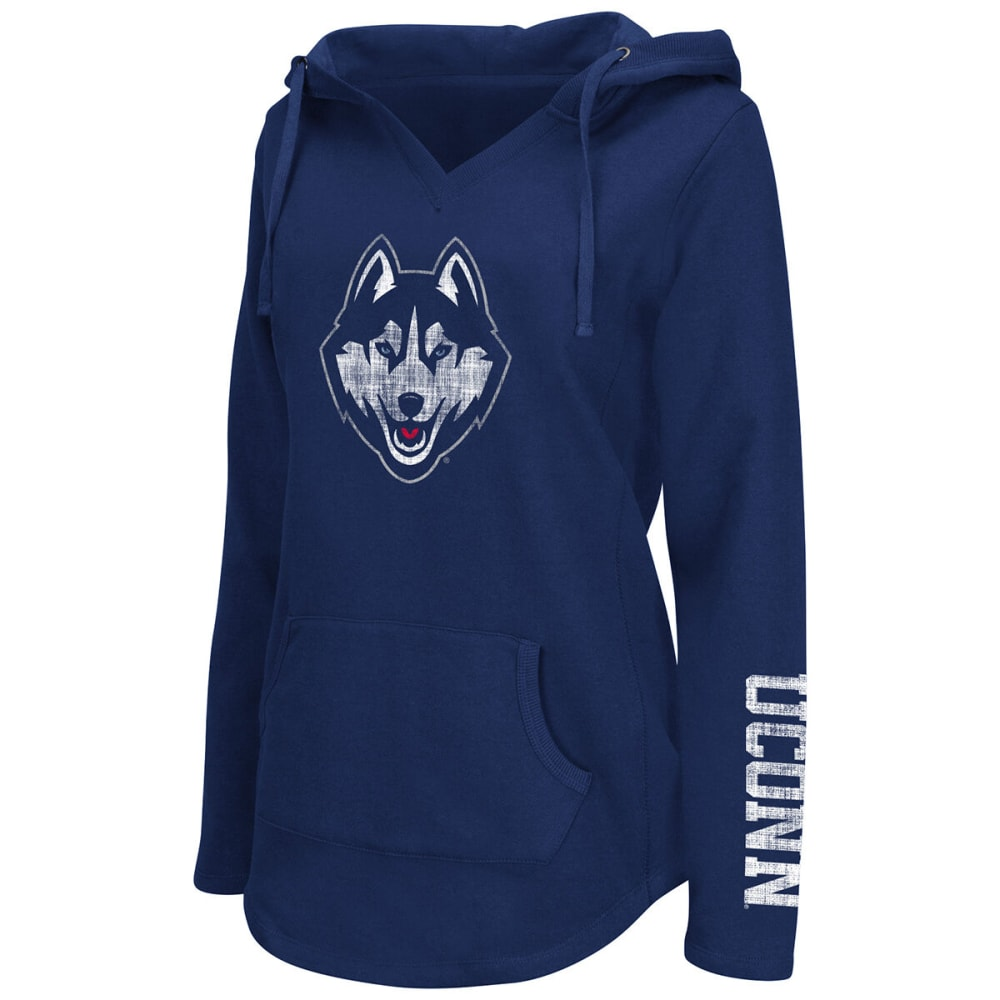 UCONN Women's Walkover Pullover Hoodie - NAVY