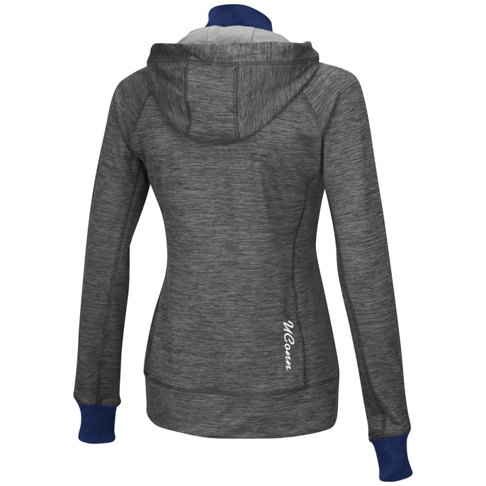 UCONN Women's Double Back ½ Zip Jacket - CHARCOAL
