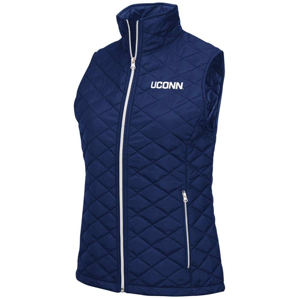 UCONN Women's Elite Quilted Vest - NAVY