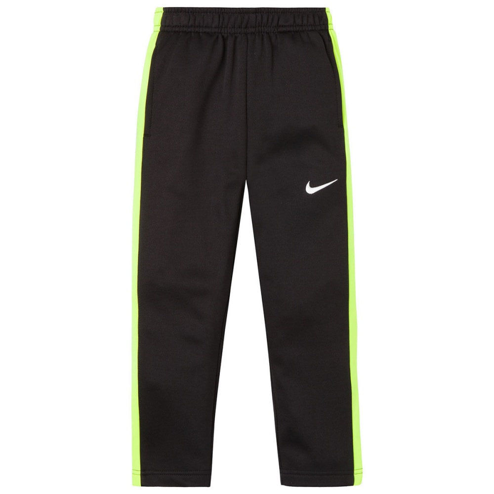 NIKE Little Boys' Therma-FIT KO Fleece Pants - BLACK/VOLT-KE4