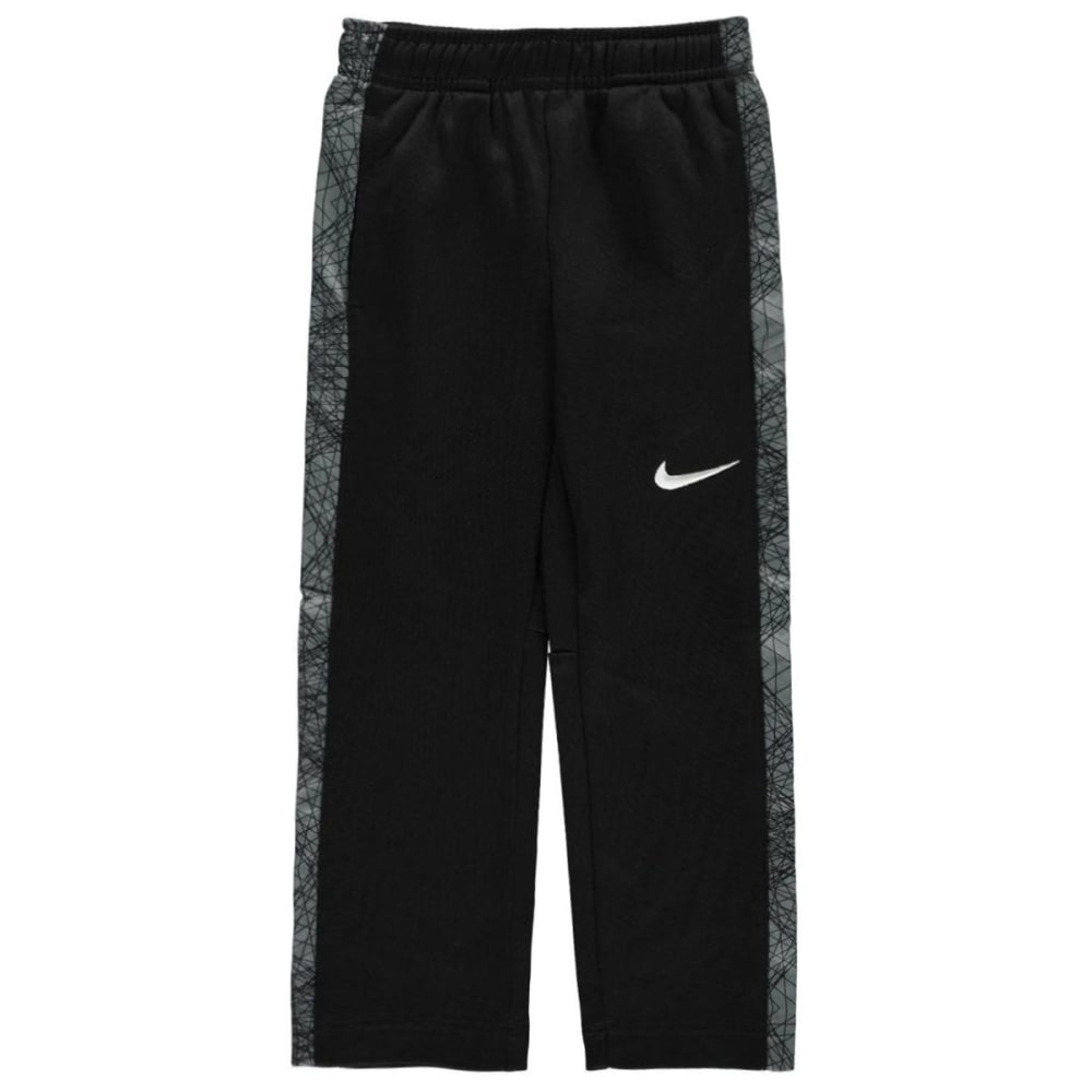 NIKE Little Boys' Therma-FIT KO Printed Fleece Pants - BLACK/GRY-KG7