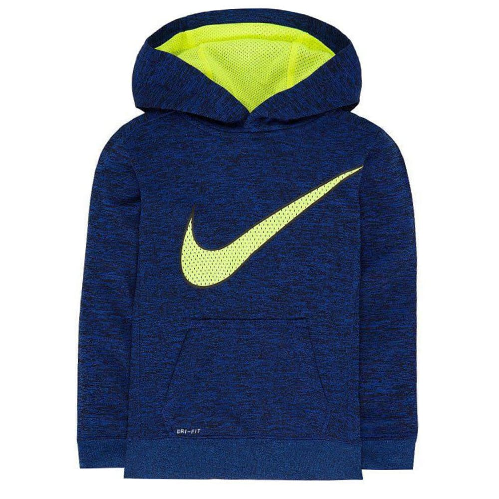Nike Little Boys' Therma-Fit Space-Dye Fleece Hoodie - Blue, 6