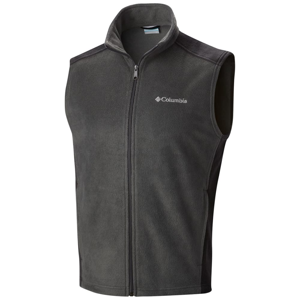 COLUMBIA Men's Steens Mountain™ Fleece Vest - GRILL/ BLACK-028