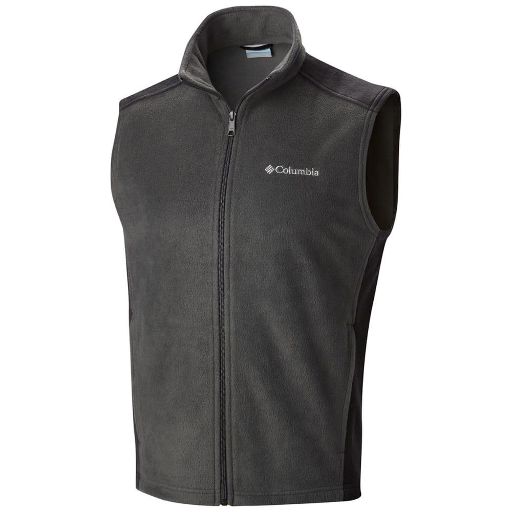 COLUMBIA Men's Steens Mountain™ Fleece Vest - GRILL/ BLACK-028